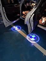 Штатная led подсветка двери с логотипом BMW,TOYOTA,MERSEDES,AUDI.