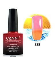 Термо гель-лак Canni № 333, 7.3 мл (оранжевый, при нагревании - розовый)