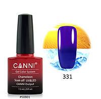 Термо гель-лак Canni № 331, 7.3 мл (синий, при нагревании - фиолетовый)