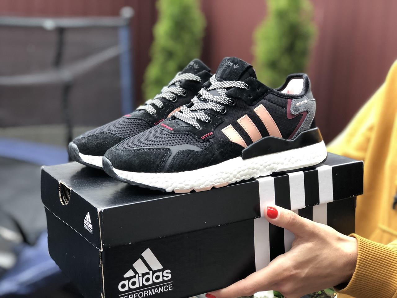 Женские кроссовки Adidas Nite Jogger Boost 3M.Стильные женские кроссовки.