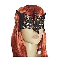 Кружевная маска Загадка лисица (черная)