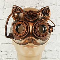 Маска вінтажна стімпанк Кішка (бронза), фото 1
