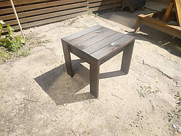 Столик для шезлонга, лофт, натуральное дерево разные цвета модель Варвара