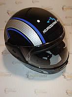 """Шлем мотоциклетный интеграл закрытый черный S(55-56), HF-101/501,""""КUROSAWA""""."""