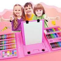 АКЦИЯ!!! Набор для рисования и творчества в чемоданчике с мольбертом Super Mega Art Set 208 предметов