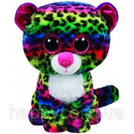 "TY Beanie Boo's Разноцветный леопард ""Dotty"" 25см"
