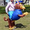 Надувний костюм Вершник на Собаці FZ1784
