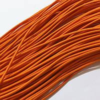 Резинка шляпная 2,5мм цв оранжевый (уп 100м) Ф
