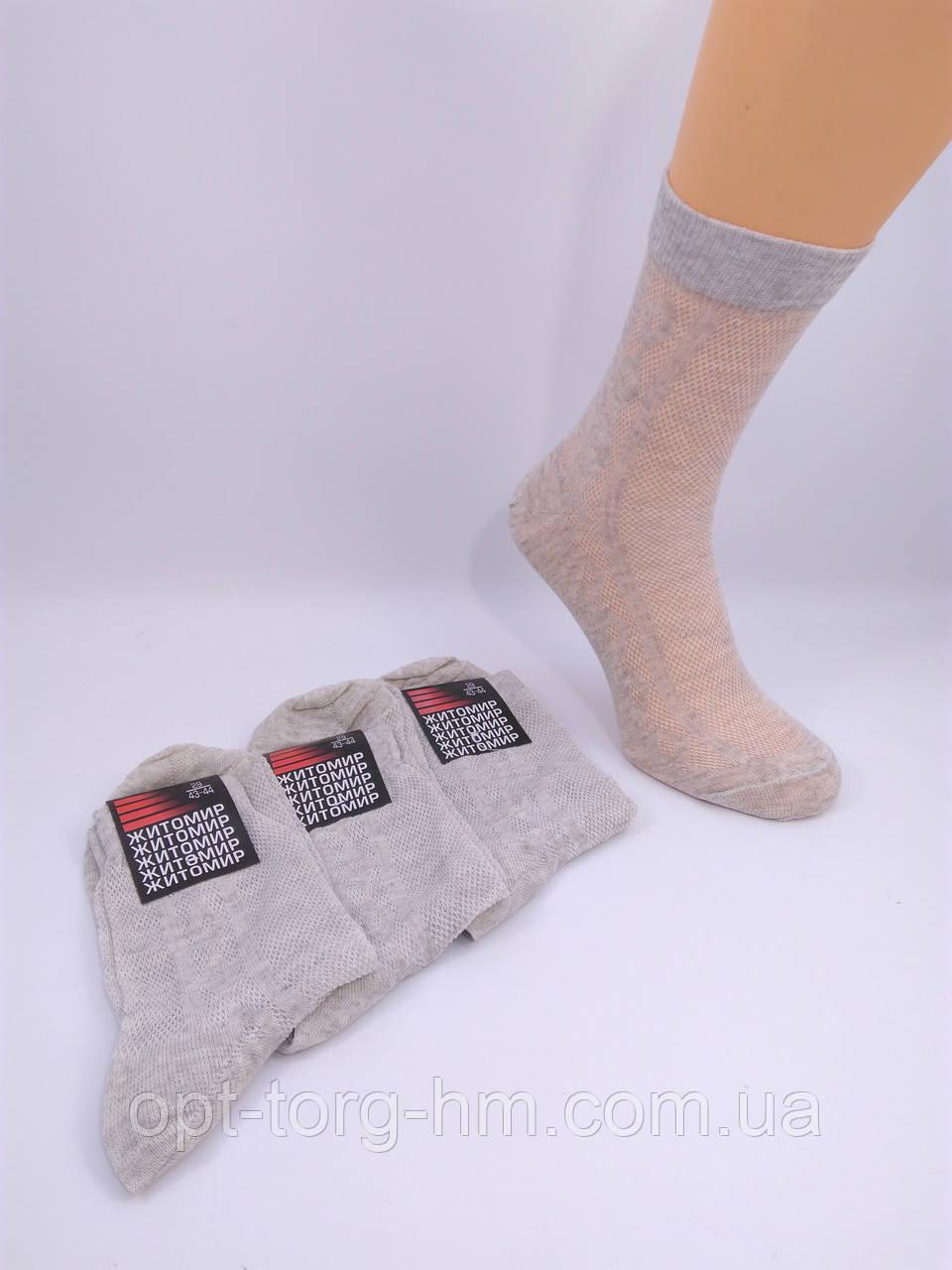 Шкарпетки чоловічі х\б сітка 25 (39-40обувь) Ліно