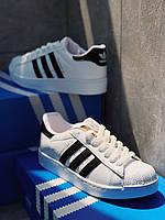 Кроссовки белые унисекс Адидас Суперстар Вайт Adidas Superstar White. Кроссовки для мужчин и женщин