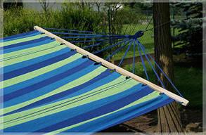 Гамак 200х100 см подвесной, хлопковый, с планкой гамак мексиканский, гамак летний, фото 2
