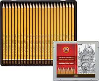 Олівці графітні 1500 8В-10Н, 24 шт.