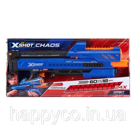 X-Shot Скорострельный бластер EXCEL CHAOS Orbit (24 шарика)