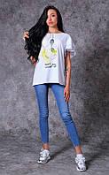 Женская футболка из трикотажа Poliit 3003-4
