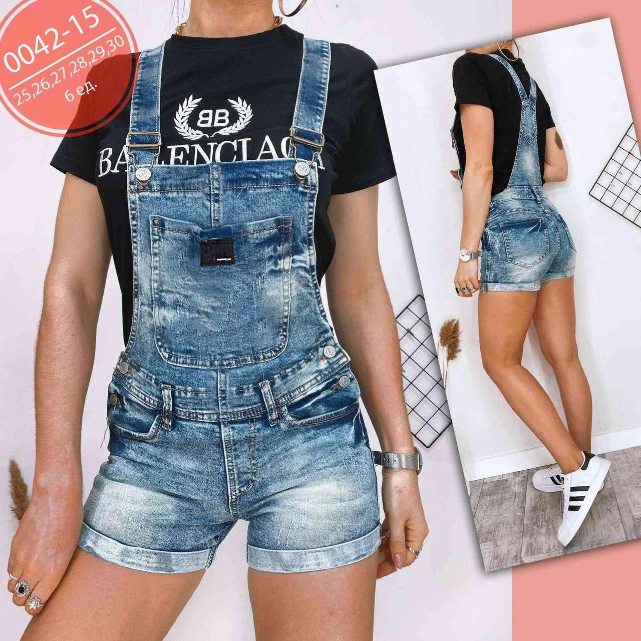 Модний жіночий комбінезон джинсовий