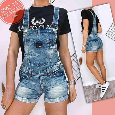 Модный женский комбинезон джинсовый