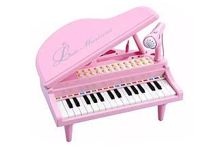 """Детское пианино синтезатор Baoli """"Маленький музикант"""" с микрофоном 31 клавиша (розовый)"""