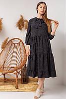 Стильне літній молодіжний сукня з бантом на зав'язці і укороченим рукавом