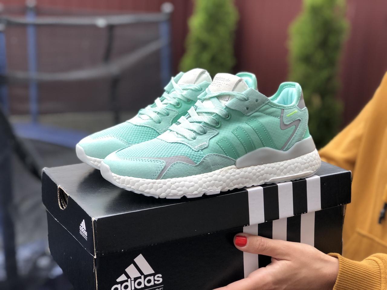 Стильные женские кроссовки Adidas Nite Jogger Boost 3M. Модные женские кроссовки.