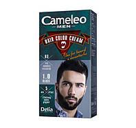 """Крем-краска для бороды, усов и бакенбардов 1.0 черная """"Delia"""" CAMELEO MEN (30 мл.)"""