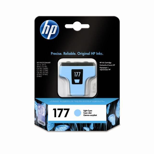 Картридж HP 177 PS3213/3313/8253 Light Cyan 400 страниц
