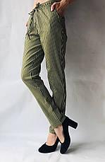 Женские летние штаны, №21 хаки+белий, фото 3