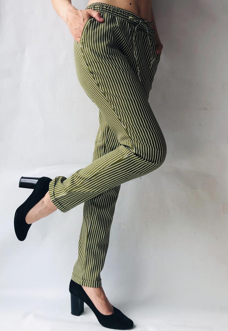 Женские летние штаны, №21 хаки+белий