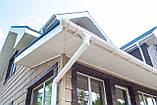 Труба водостічна Docke Lux Пломбір 100мм довжина 3м. п., фото 4