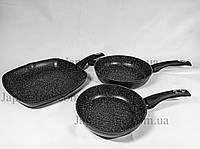 Набор сковородок Edenberg EB-1732 с антипригарным мраморным покрытием, фото 1