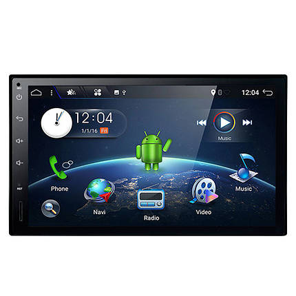 "Автомагнитола 2Дин 7"" Pioneer 5001A на Android сенсорный экран память 1/16 Gb GPS навигация microSD, фото 2"