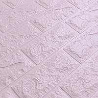Стеновые панели 3D под светло-фиолетовый кирпич Самоклейки