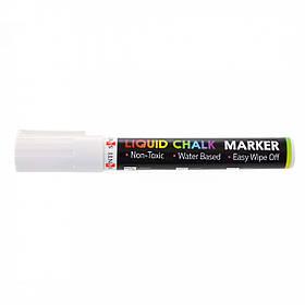 Меловой маркер SANTI, белый, 6 шт/уп. 5 мм.