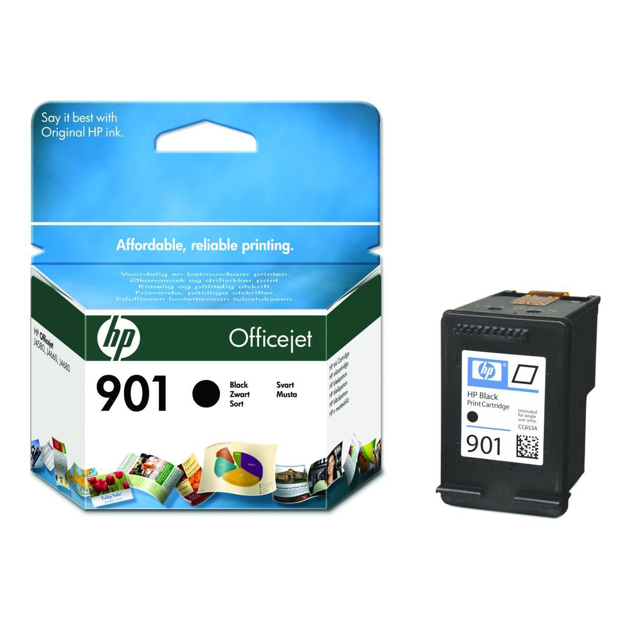 Картридж HP 901 OJ 4580/4660 Black 200 страниц