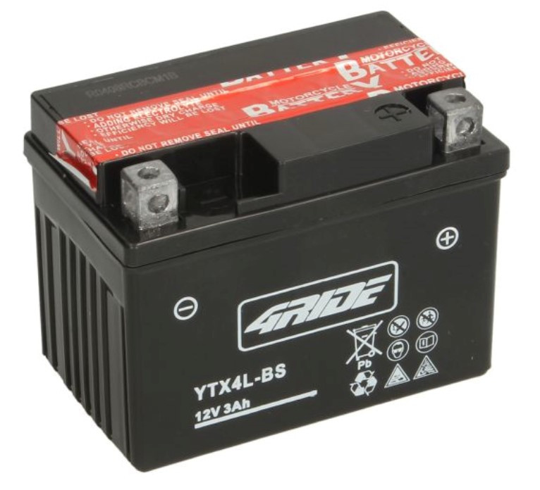 Аккумулятор мото 4RIDE 12V 3Ah 35A YTX4L-BS  [114x71x86]