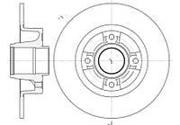 Диск гальмівний задній невентилируемый Renault Megane 2 (RoadHouse 6750.00)