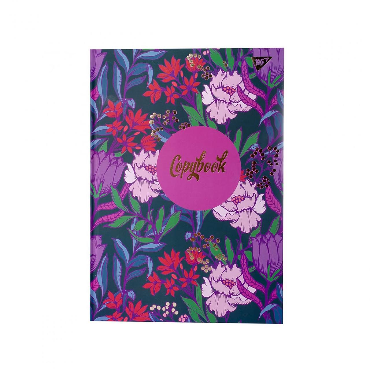 Зошит А4 96арк. кліт. Flower лам., глітер, 7БЦ №151598/Yes/(3)