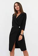 S, M, L | Вишукане жіноче плаття на запах Kristall, чорний