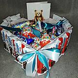 Коробка подарункова Торт-сюрприз з кіндер-шоколадок Мілкі Вей, фото 2
