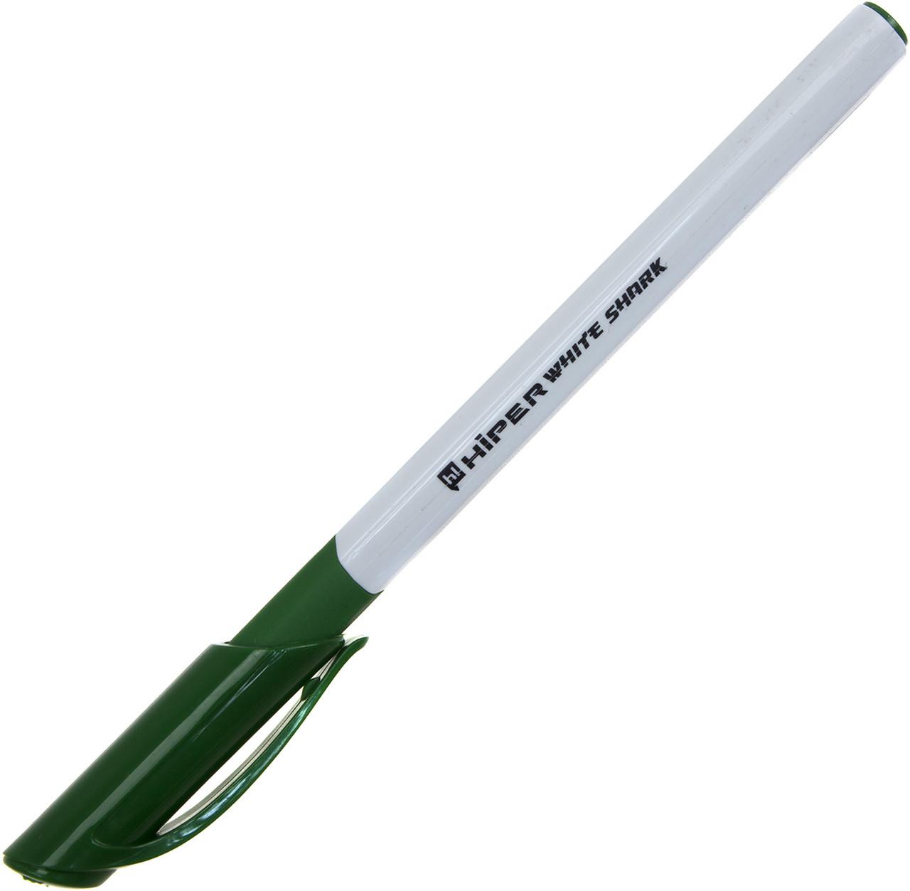 """Ручка гел. """"Hiper"""" №HG-811 White Shark 0,6мм зелена(10)(100)"""