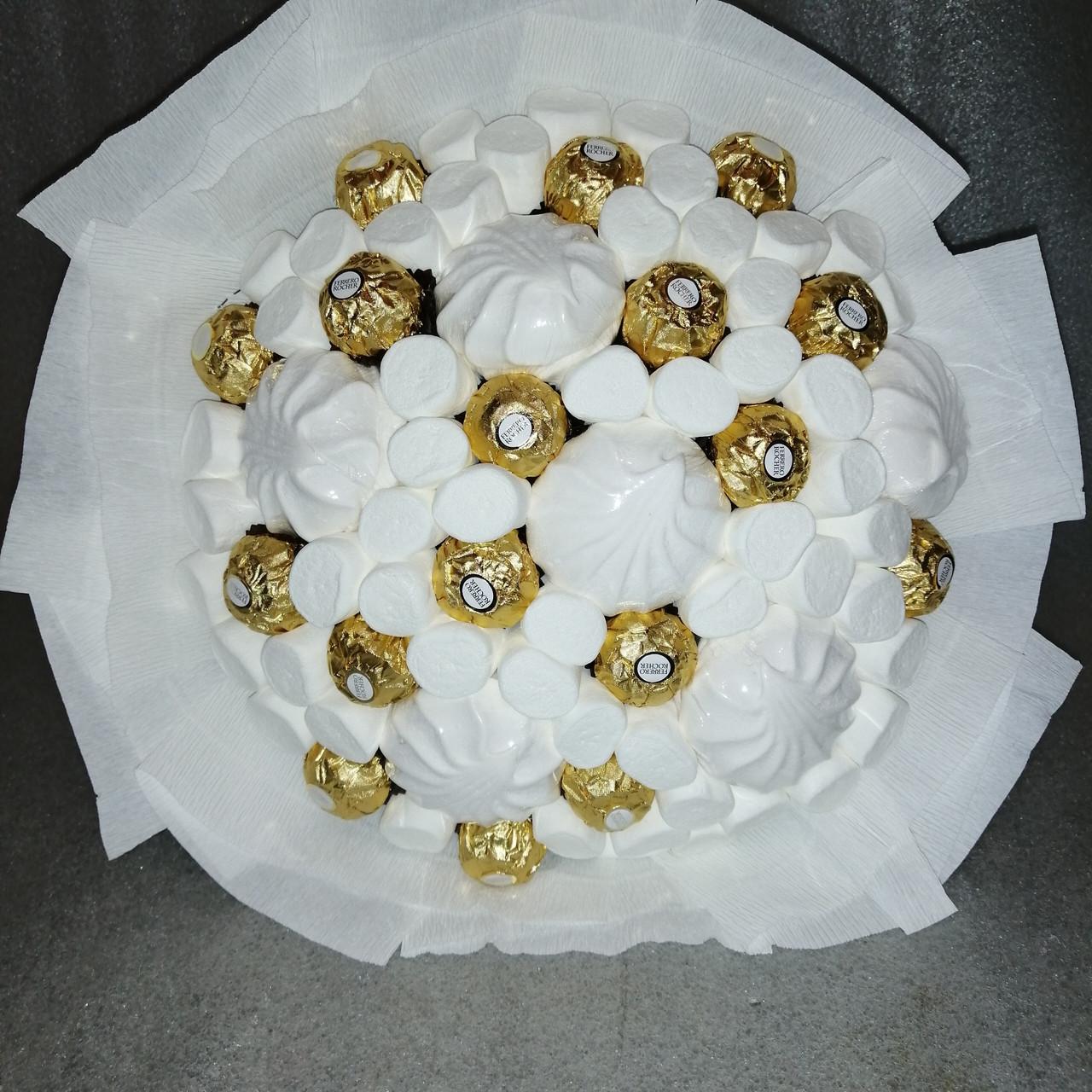 Букет з шоколадних цукерок Бель подарунковий вітальний їстівний