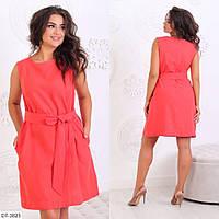 Стильное платье   (размеры 50-54) 0244-66