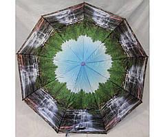 Зонт чоловічий автомат складаний CALM RAIN Анти-вітер Природа