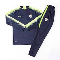 Тренировочный костюм футбольного клуба Манчестер Сити 18/19 сине-зеленый