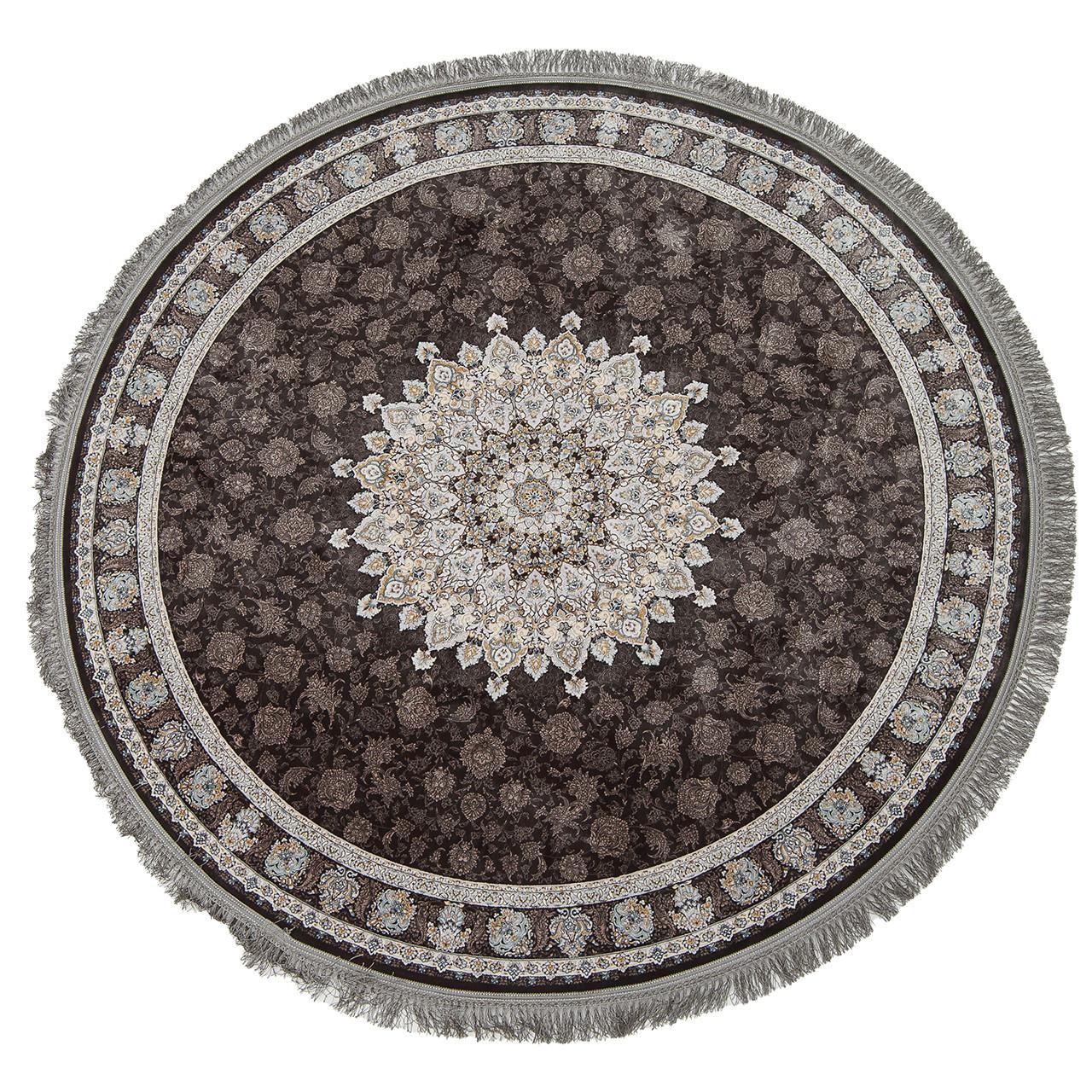 Коврик восточная классика XYPPEM G253 1,5Х1,5 СЕРЫЙ круг
