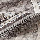 Коврик восточная классика XYPPEM G253 1,5Х1,5 СЕРЫЙ круг, фото 4
