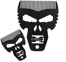 Гребінець металевий Череп мультіфункціональний Barber Shop Professional