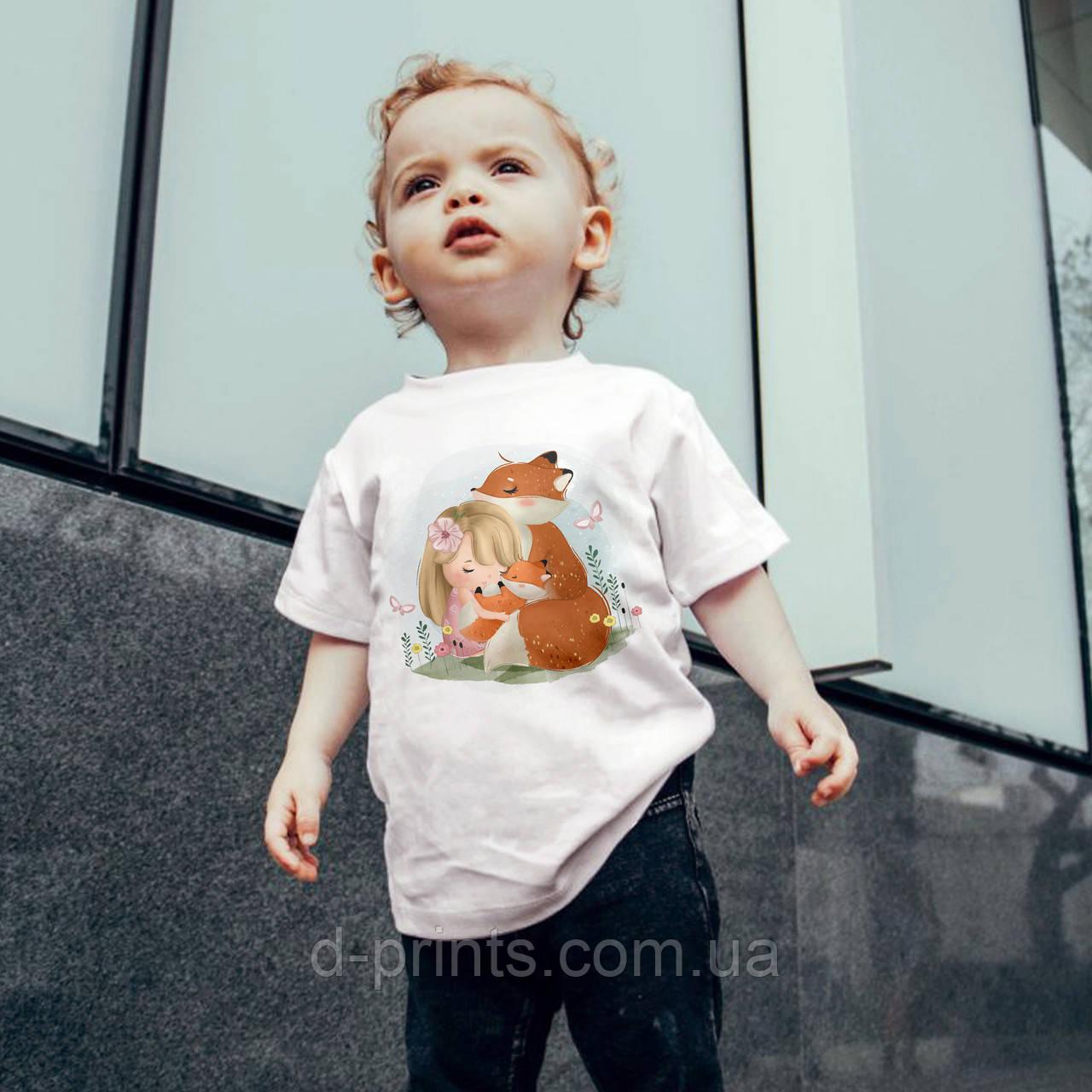 """Футболка детская с рисунком """"Лисичка"""""""