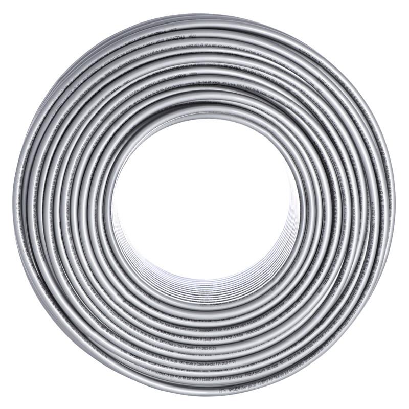 Труба для теплого пола с кислородным барьером KOER PEX-A EVOH 16*2,0 (SILVER) (400 м) (KR2859)