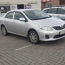 Дефлектори вікон (вітровики) клеючі / накладні Toyota Corolla 2008 -> 4шт E140.E150 (ANV)