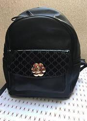 Рюкзак женский черного цвета эко-кожа, качественный